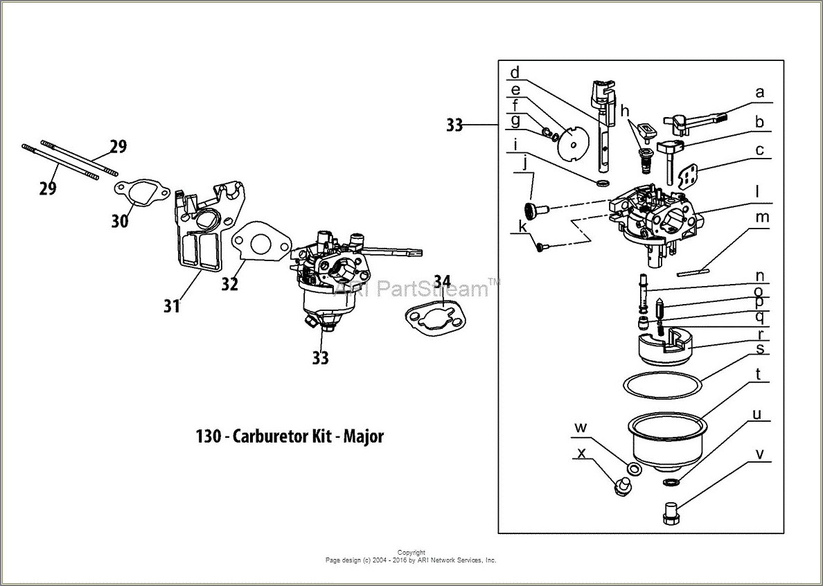 Troy Bilt Pony Carburetor Diagram