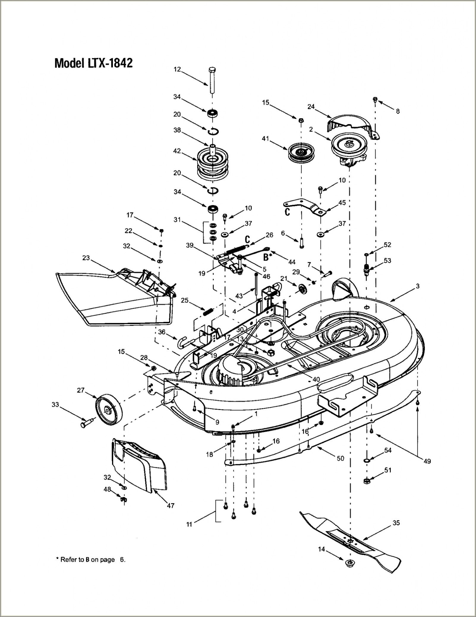 Troy Bilt Riding Mower Deck Belt Diagram