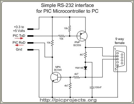 Ttl To Rs232 Converter Circuit Diagram