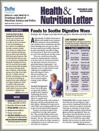 Tufts University Health And Nutrition Letter