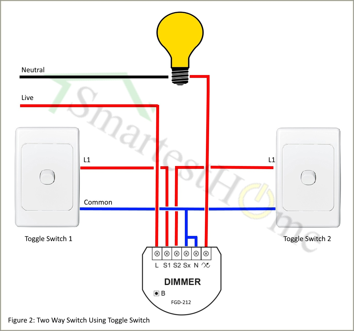 Two Way Switch Wiring Diagram Australia