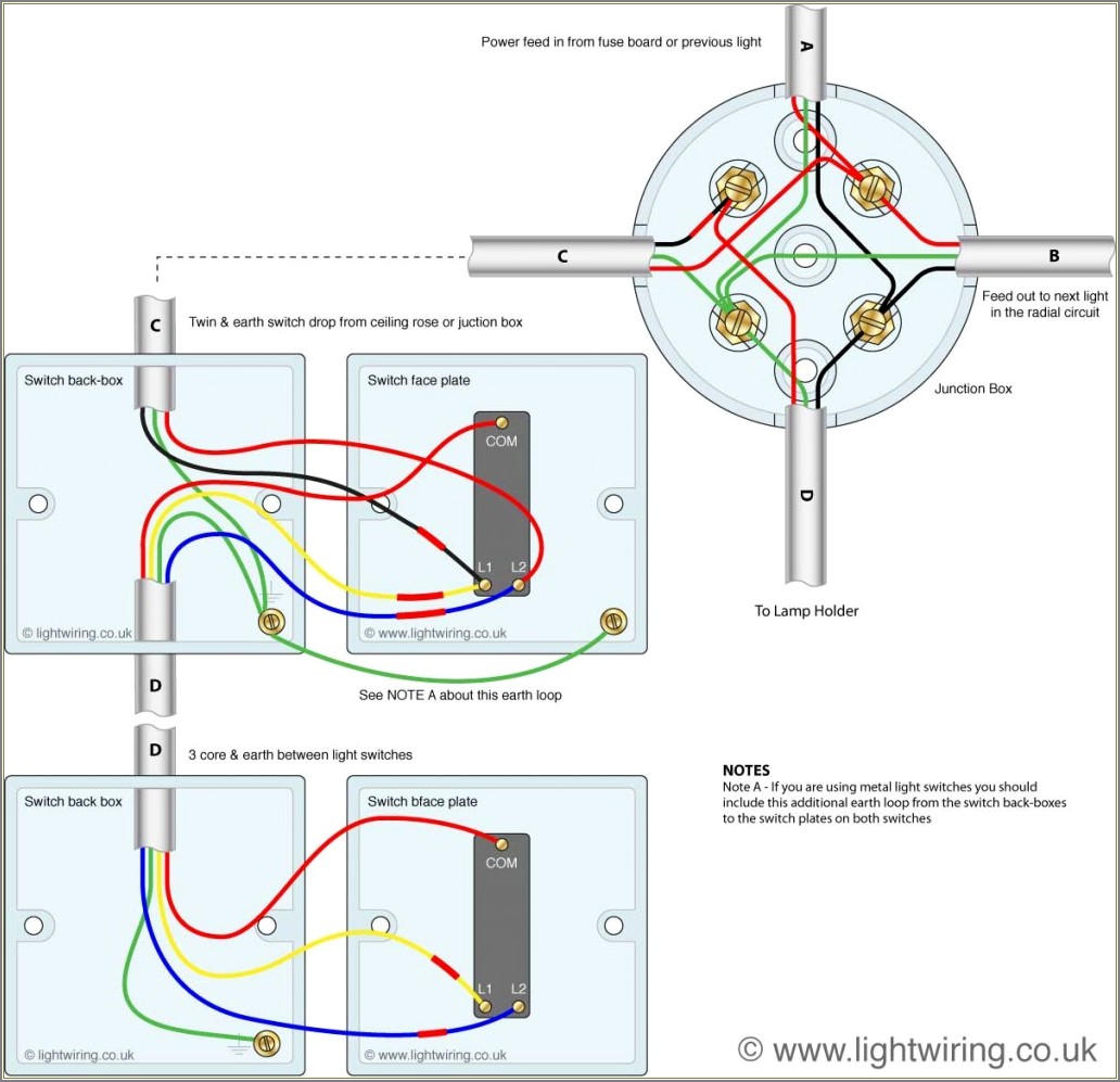 Two Way Switch Wiring Diagram Uk