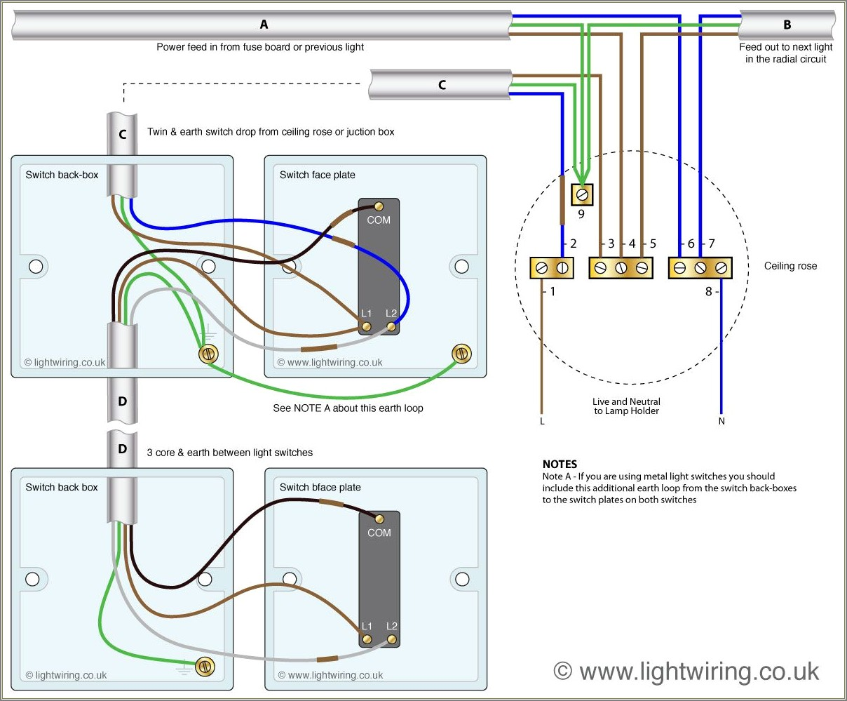 Two Way Switch Wiring Diagram
