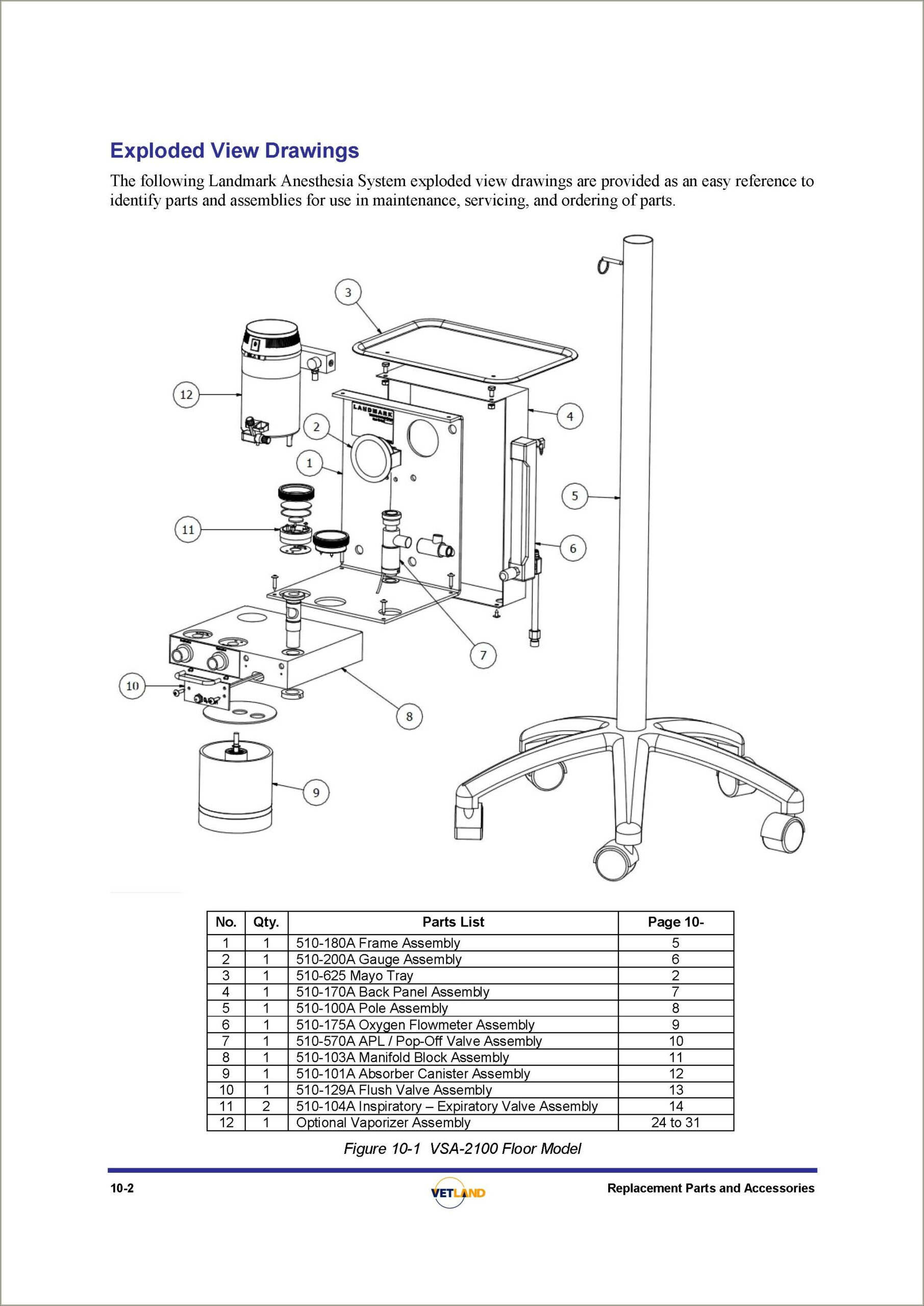 Veterinary Anesthesia Machine Diagram