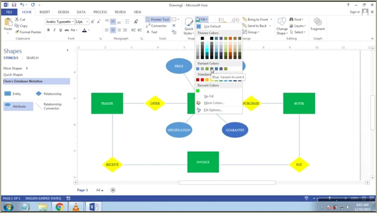 Visio Er Diagram Relationship