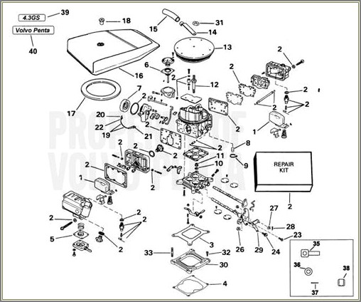 Volvo Penta Carburetor Diagram