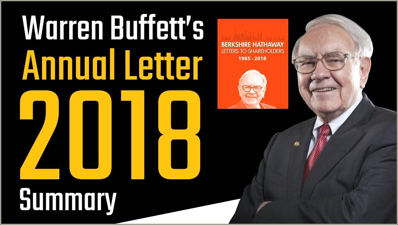 Warren Buffett Annual Letter To Shareholders 2019