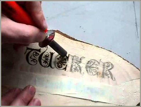 Weller Wood Burning Letters