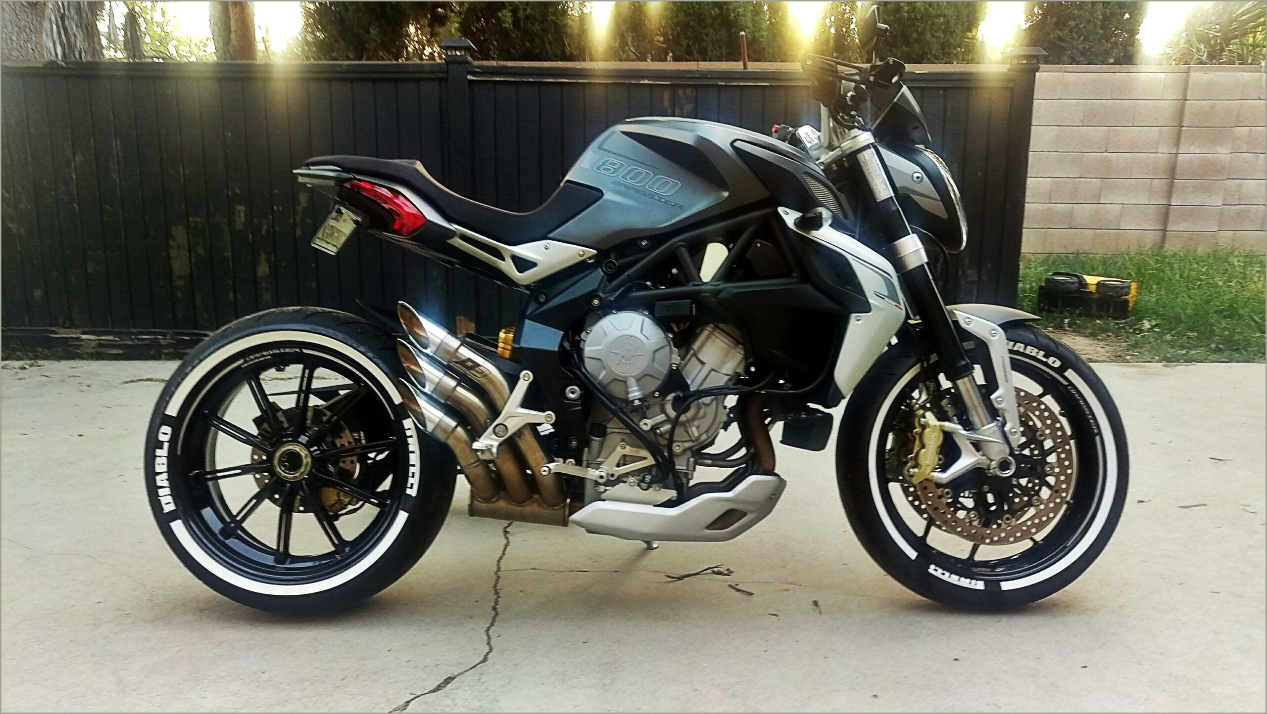 White Letter Motorcycle Tires