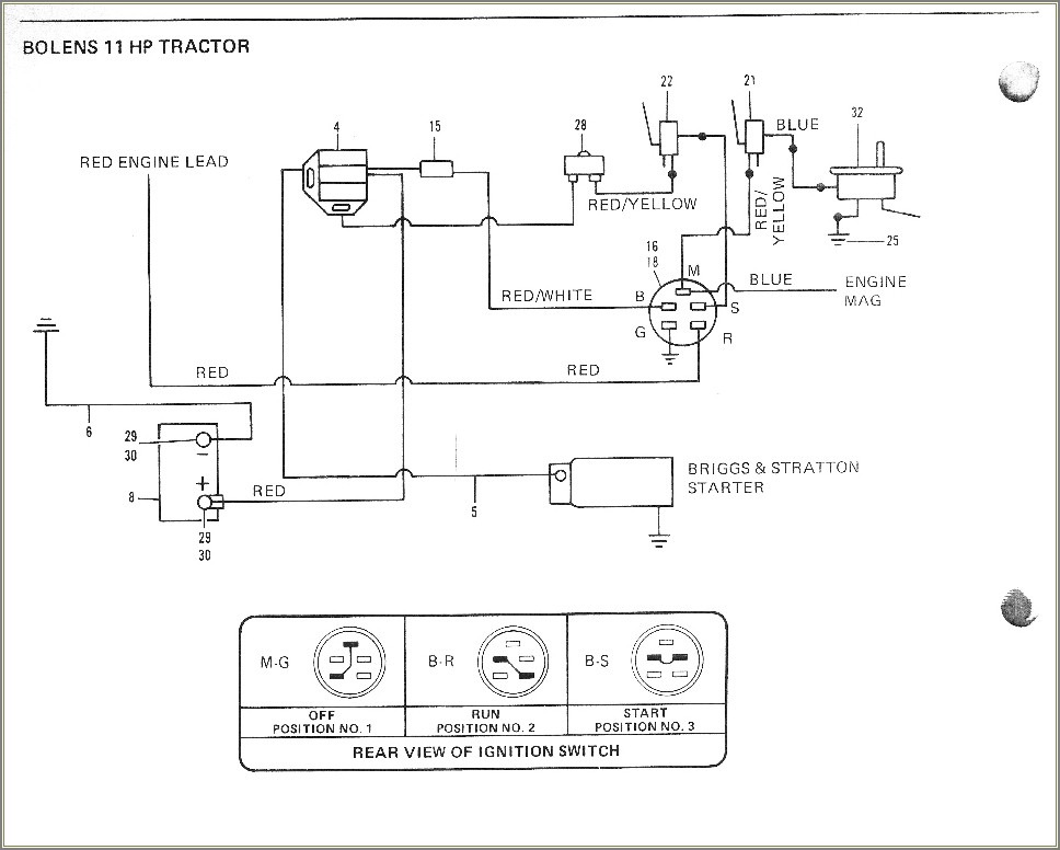 Wiring Diagram For Bolens Riding Mower