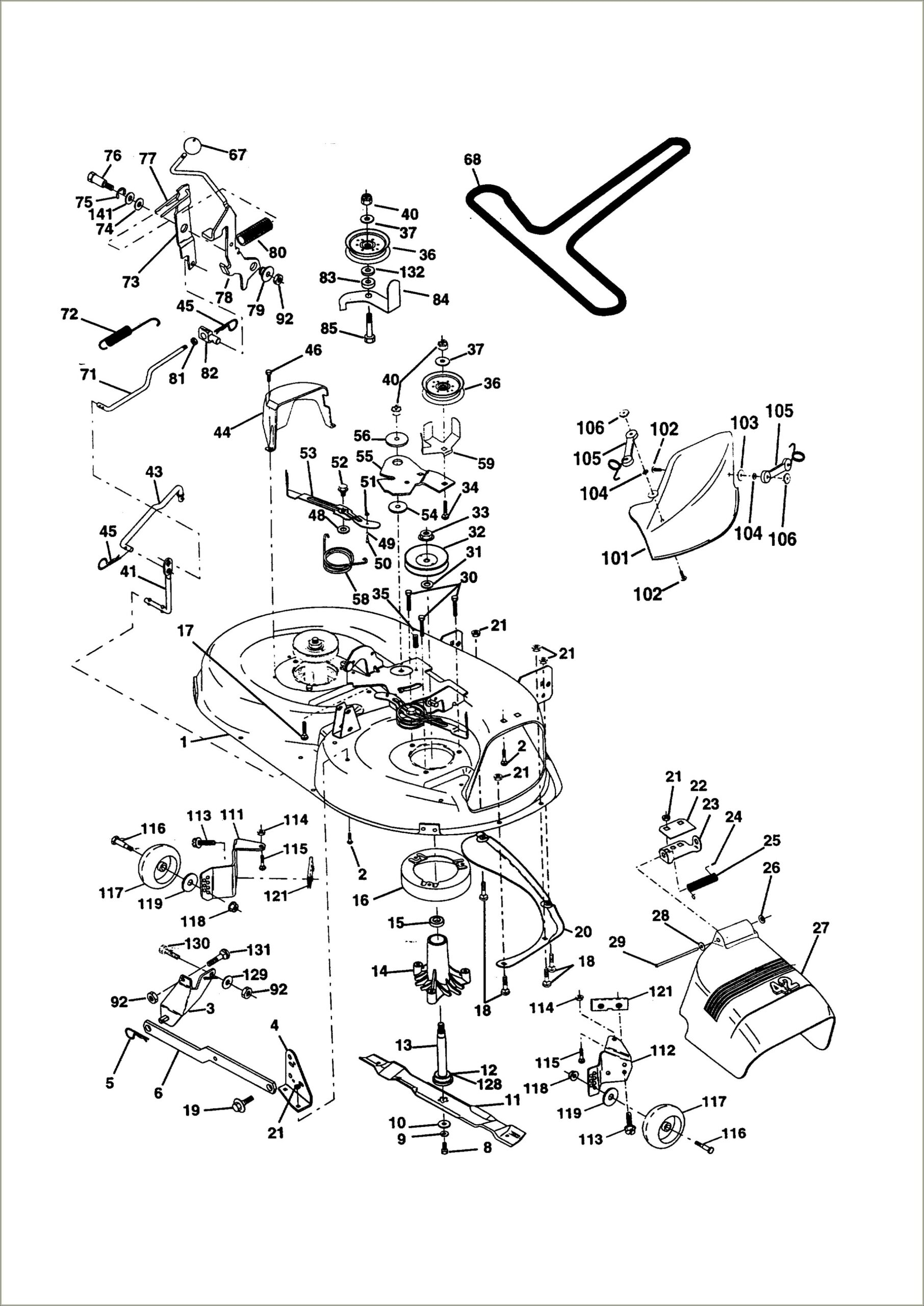Yard Machine Riding Lawn Mower Belt Diagram