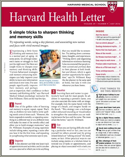 Zona Plus Harvard Heart Letter
